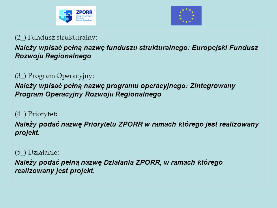 (2_) Fundusz strukturalny: