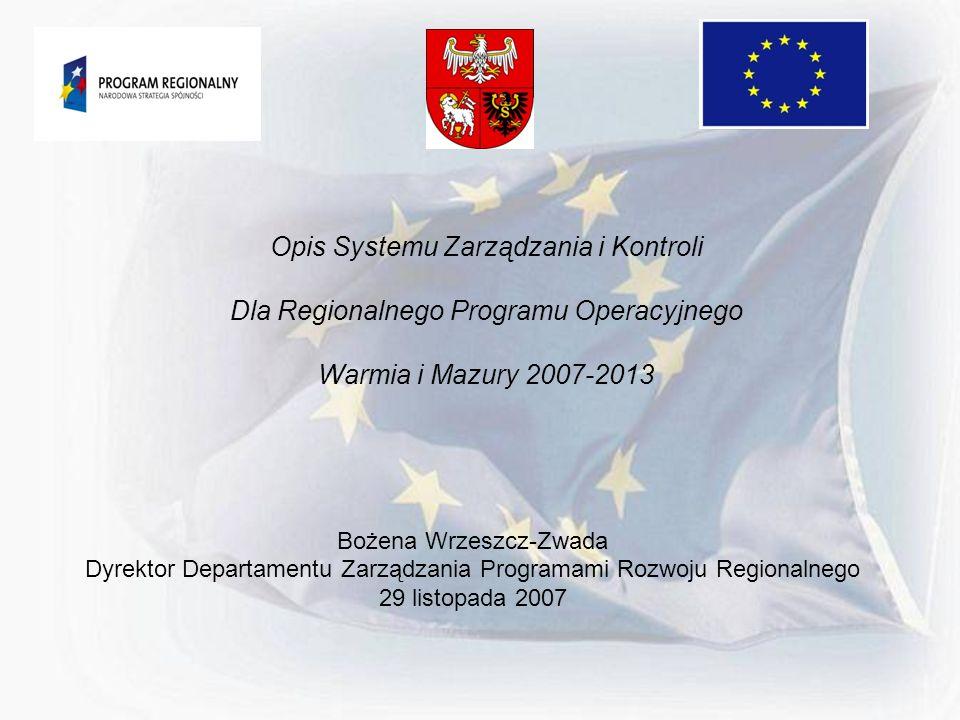 Opis Systemu Zarządzania i Kontroli