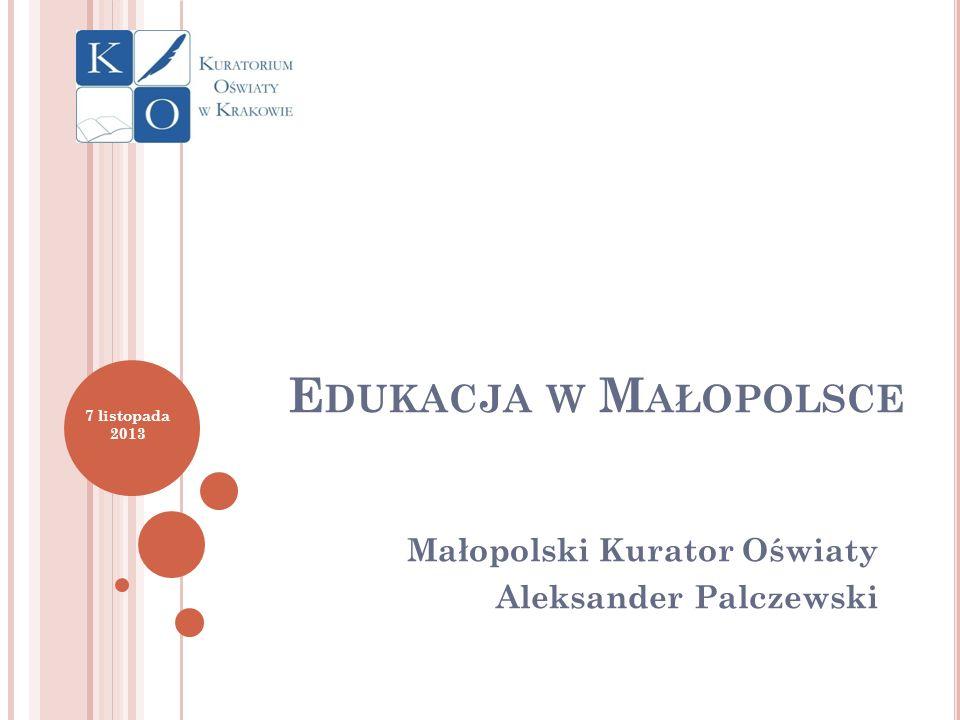 Małopolski Kurator Oświaty Aleksander Palczewski