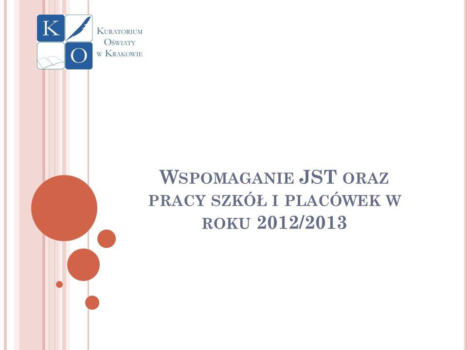 Wspomaganie JST oraz pracy szkół i placówek w roku 2012/2013