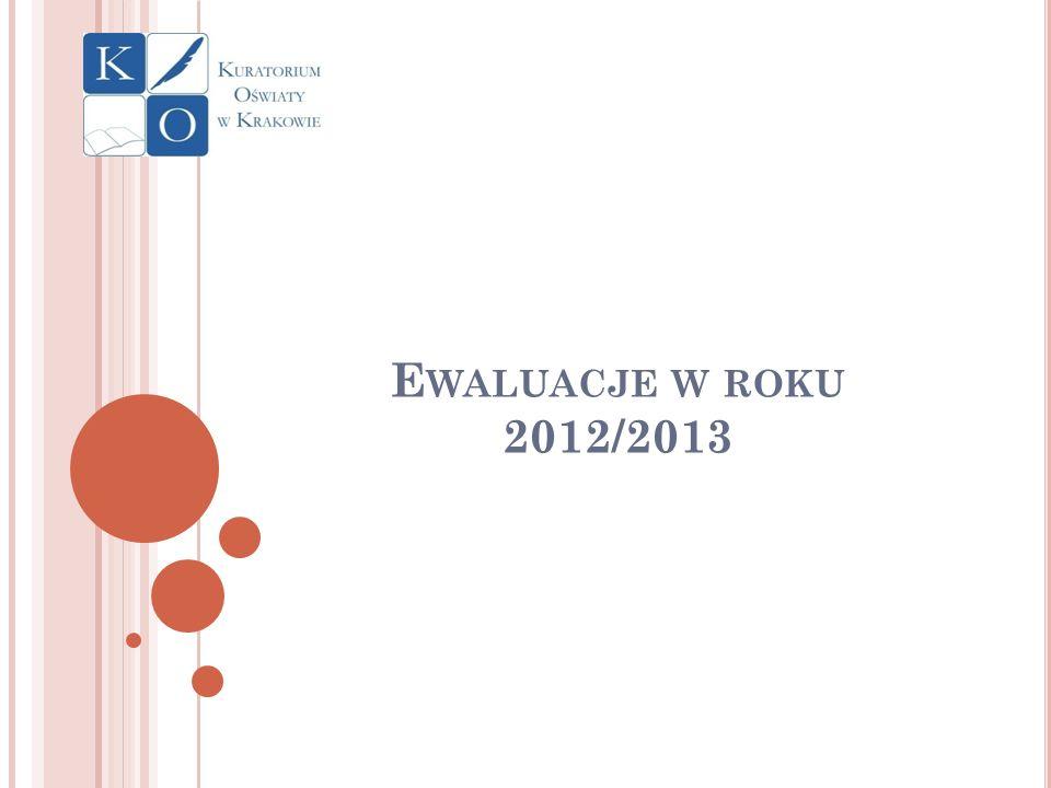Ewaluacje w roku 2012/2013