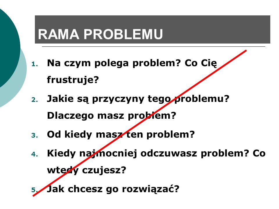 RAMA PROBLEMU Na czym polega problem Co Cię frustruje