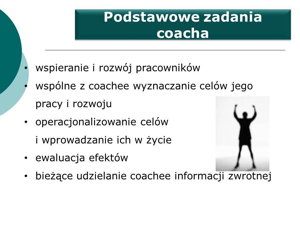 Podstawowe zadania coacha