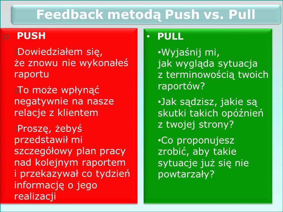 Feedback metodą Push vs. Pull
