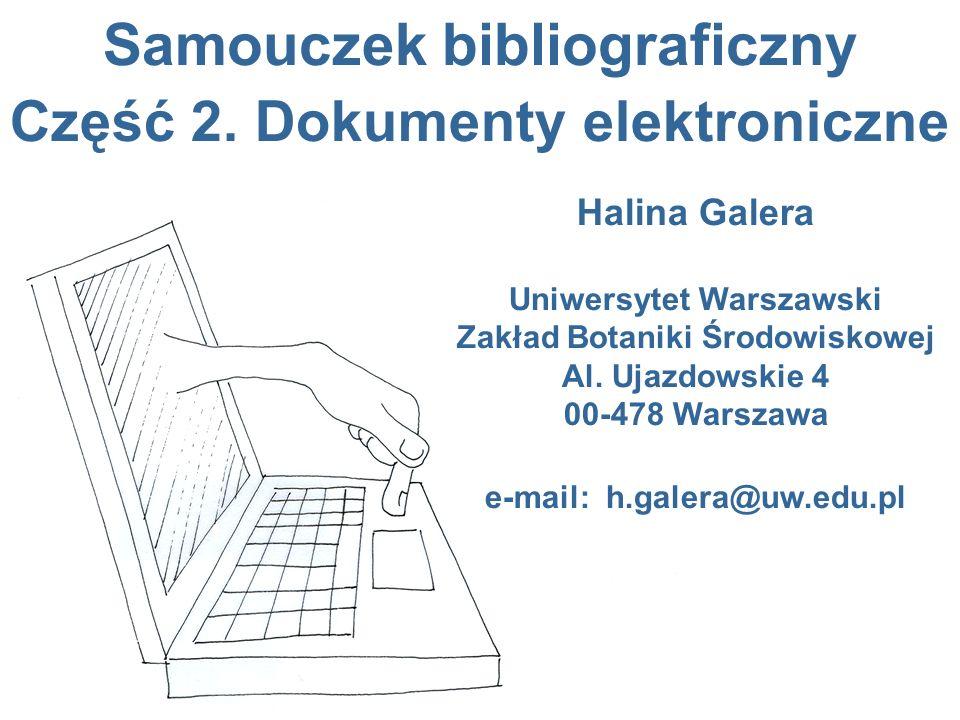 Samouczek bibliograficzny