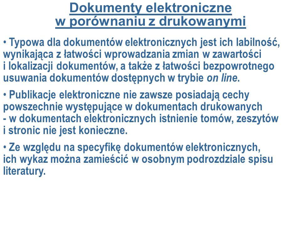 Dokumenty elektroniczne w porównaniu z drukowanymi