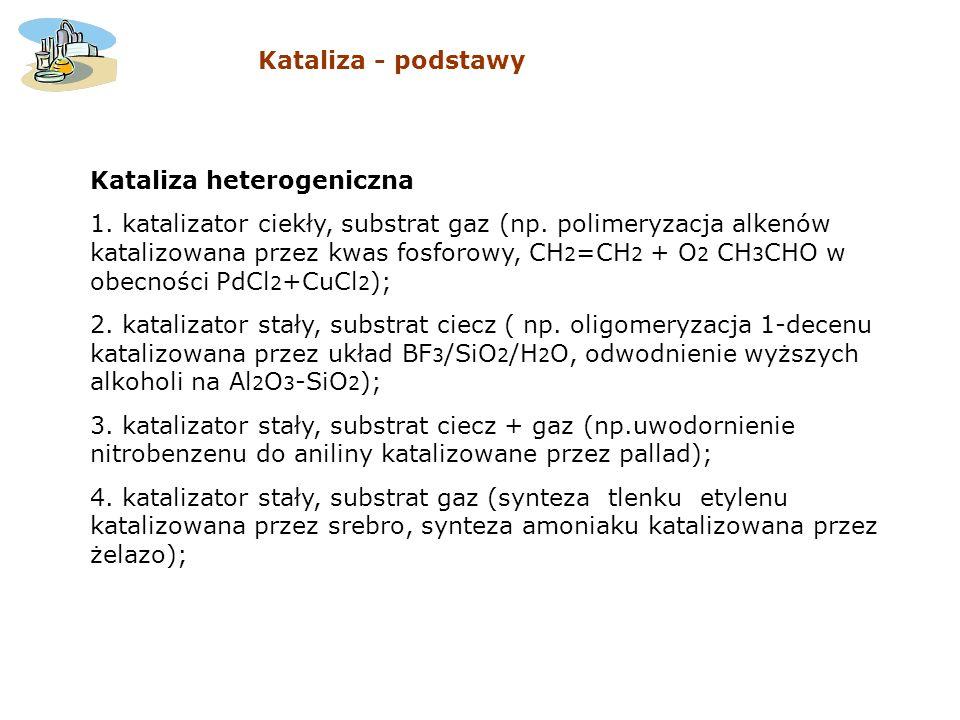 Kataliza - podstawy Kataliza heterogeniczna.