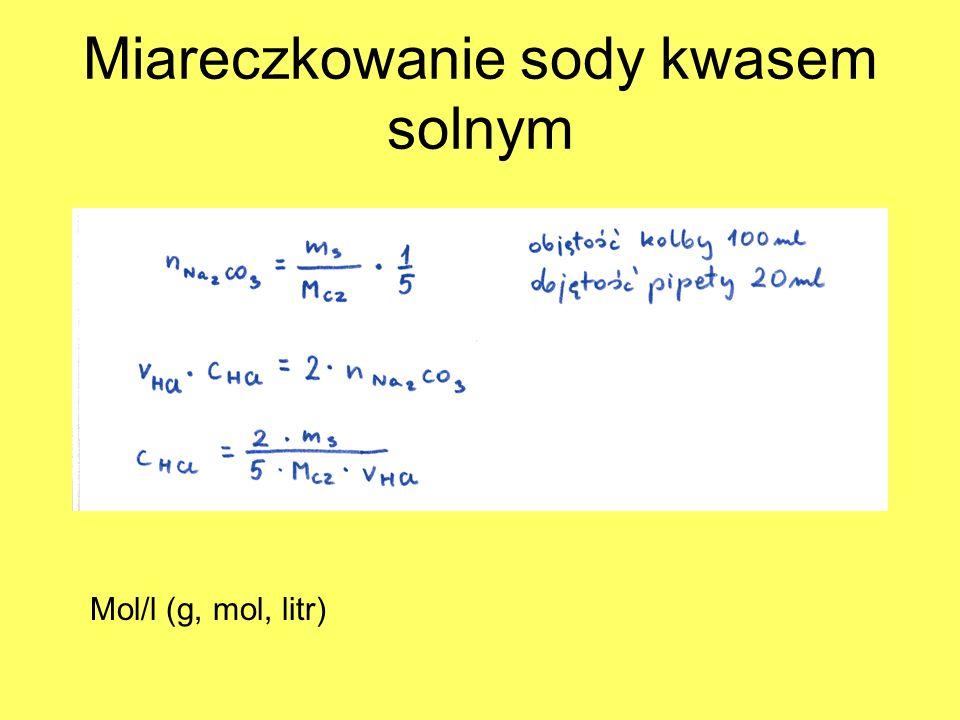 Miareczkowanie sody kwasem solnym