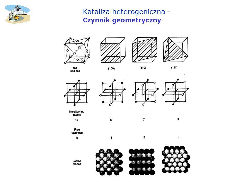 Kataliza heterogeniczna -Czynnik geometryczny