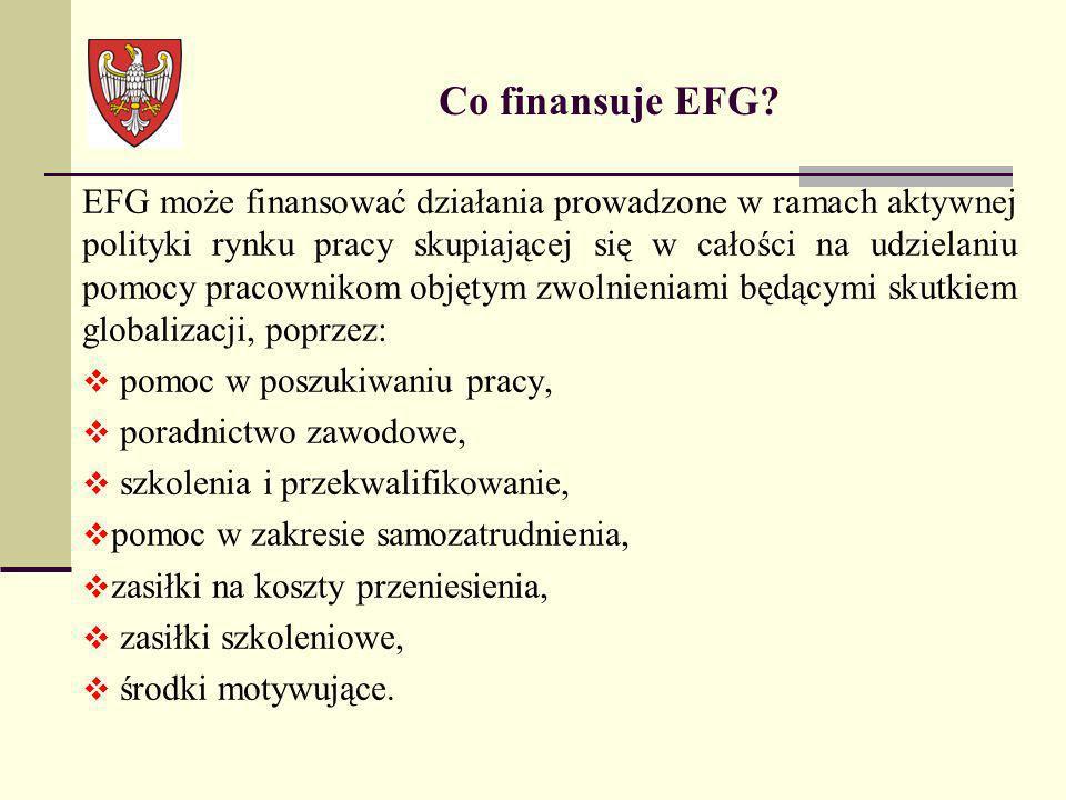 Co finansuje EFG