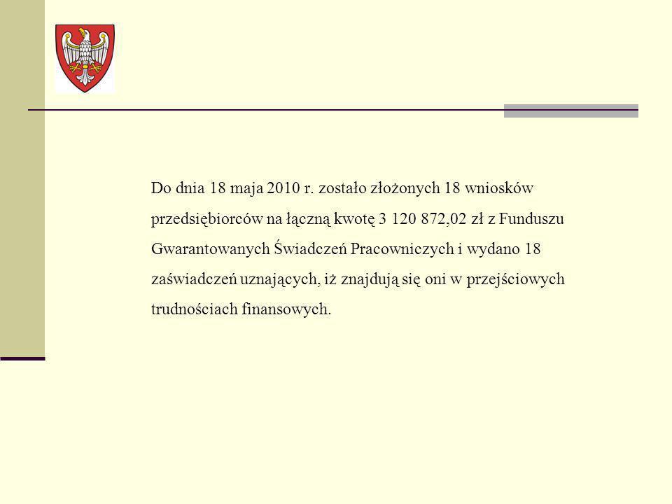 Do dnia 18 maja 2010 r.