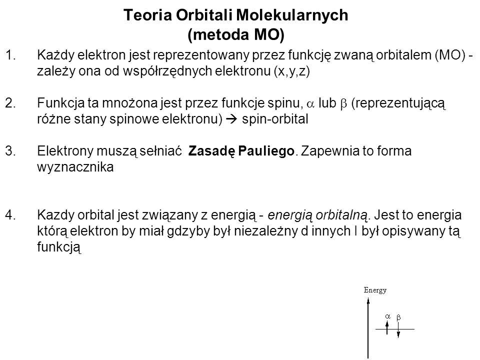 Teoria Orbitali Molekularnych (metoda MO)