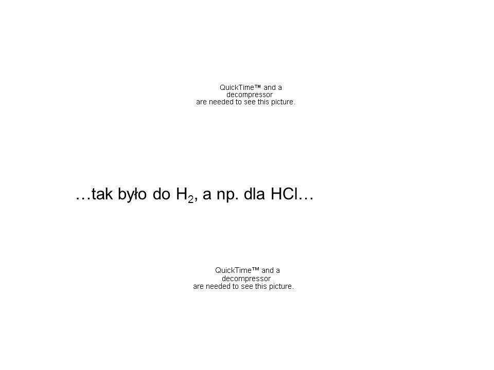…tak było do H2, a np. dla HCl…