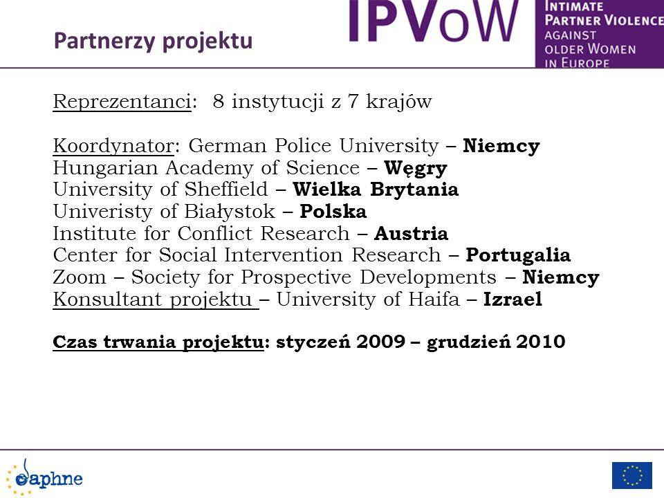 Partnerzy projektu Reprezentanci: 8 instytucji z 7 krajów