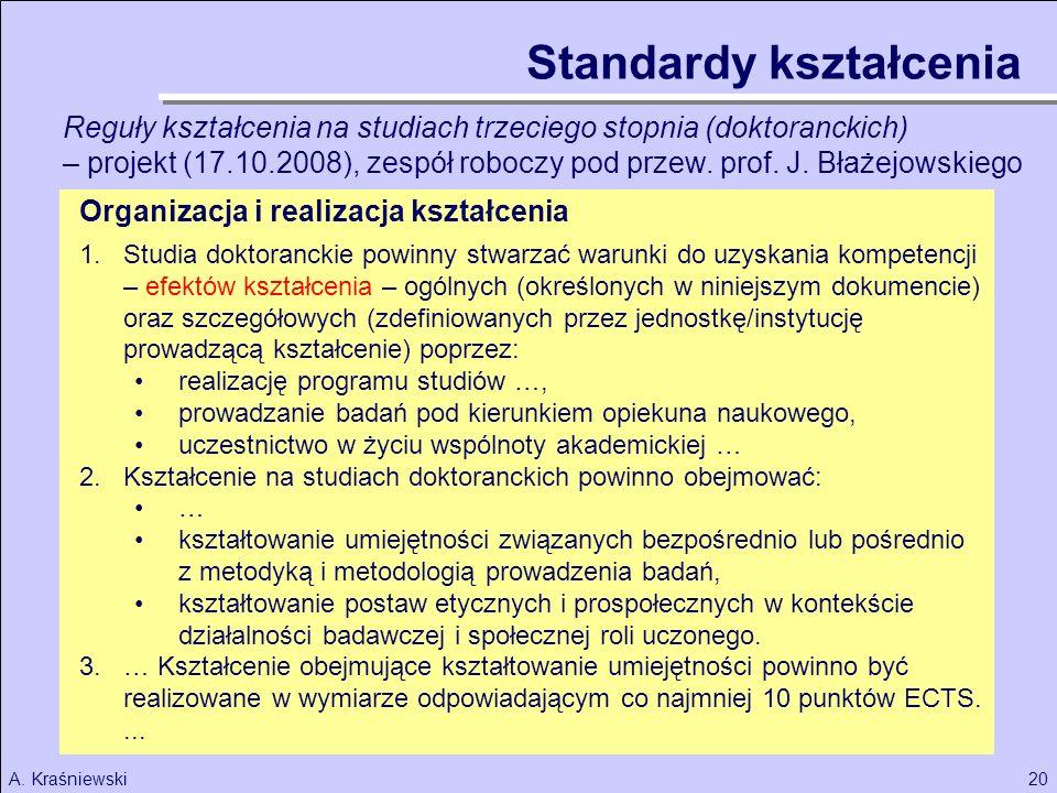 Standardy kształcenia