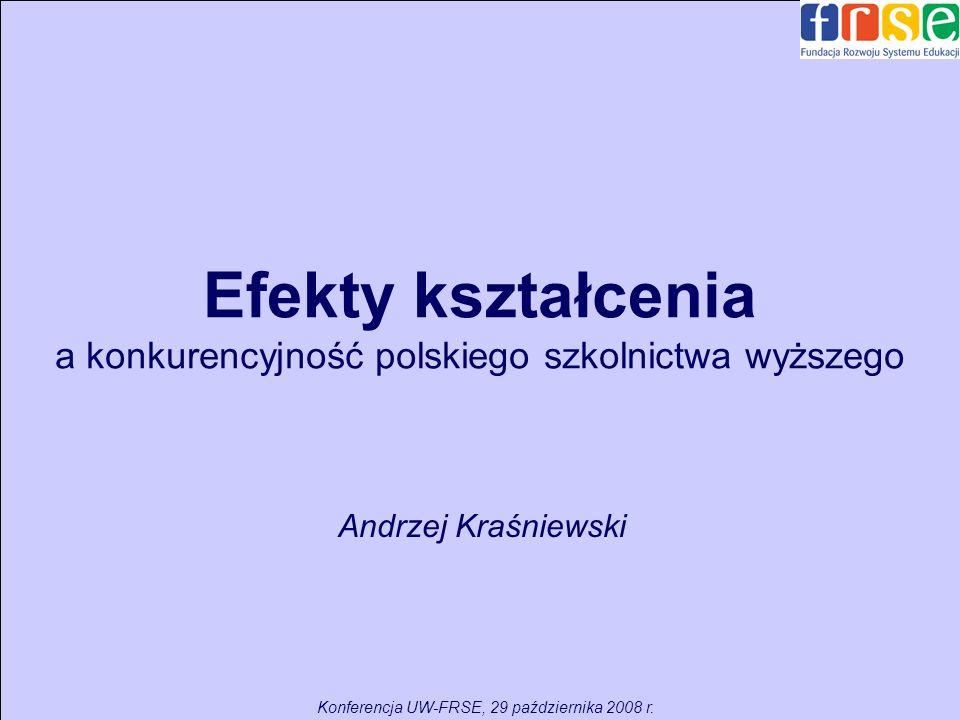 Efekty kształcenia a konkurencyjność polskiego szkolnictwa wyższego