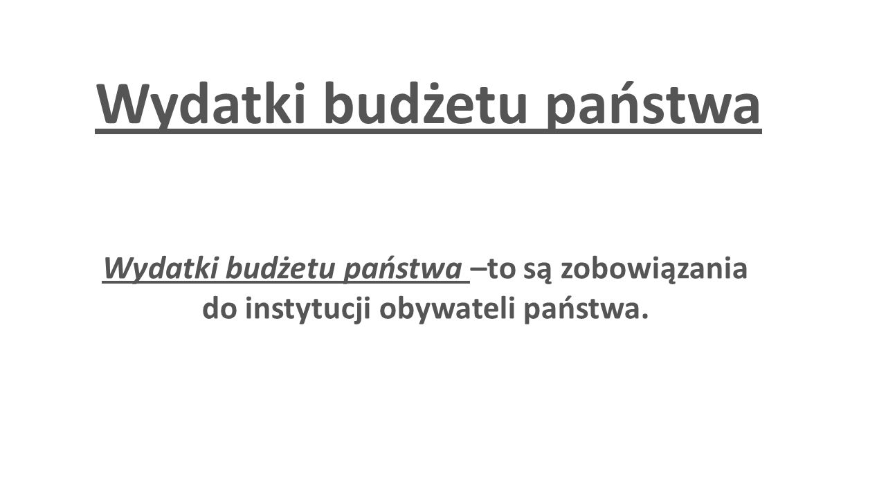 Wydatki budżetu państwa
