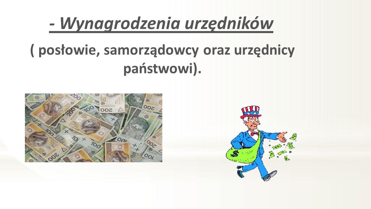 - Wynagrodzenia urzędników