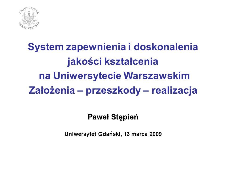 System zapewnienia i doskonalenia jakości kształcenia