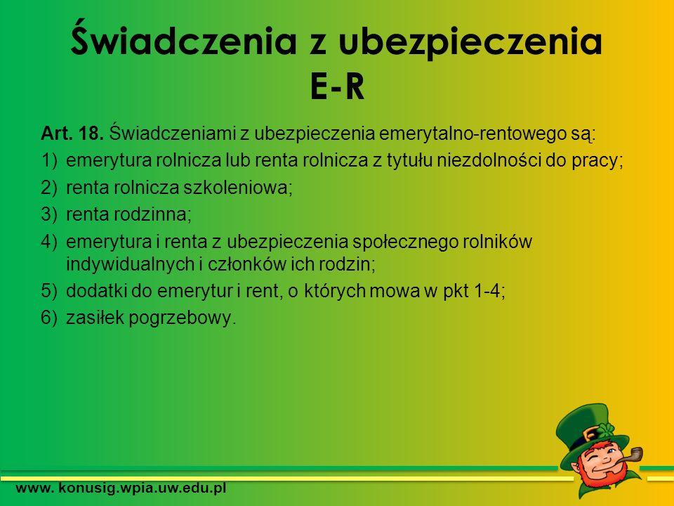 Świadczenia z ubezpieczenia E-R