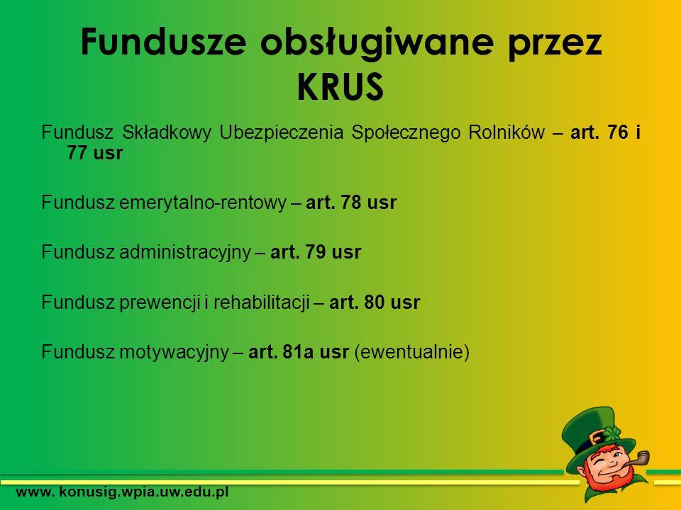Fundusze obsługiwane przez KRUS