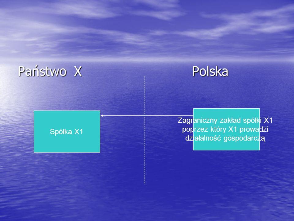 Państwo X Polska Zagraniczny zakład spółki X1