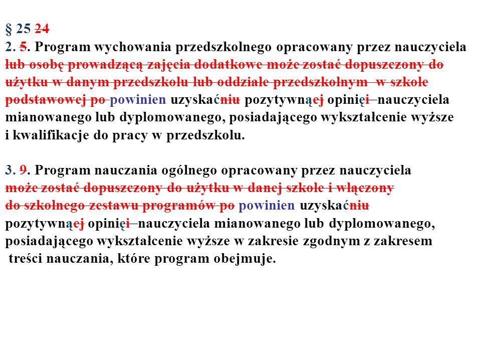 § 25 24 2. 5. Program wychowania przedszkolnego opracowany przez nauczyciela.