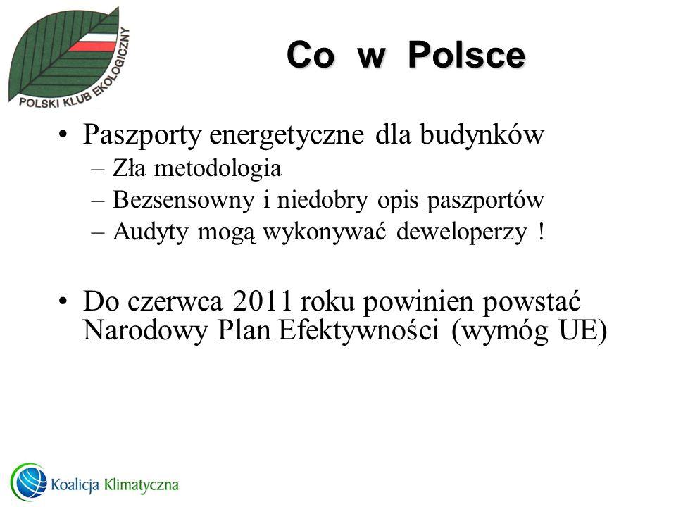 Co w Polsce Paszporty energetyczne dla budynków