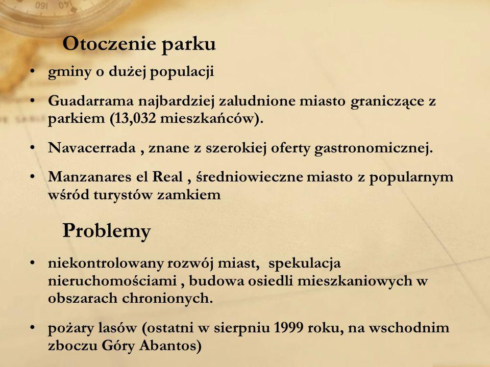 Otoczenie parku Problemy gminy o dużej populacji