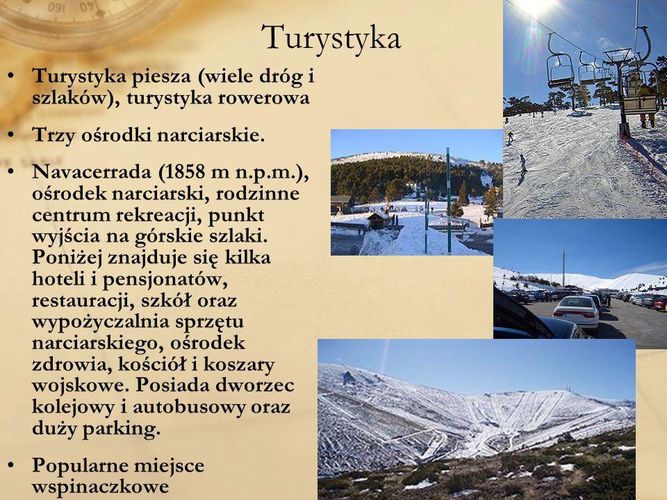 Turystyka Turystyka piesza (wiele dróg i szlaków), turystyka rowerowa