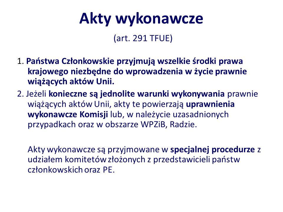 Akty wykonawcze (art. 291 TFUE)