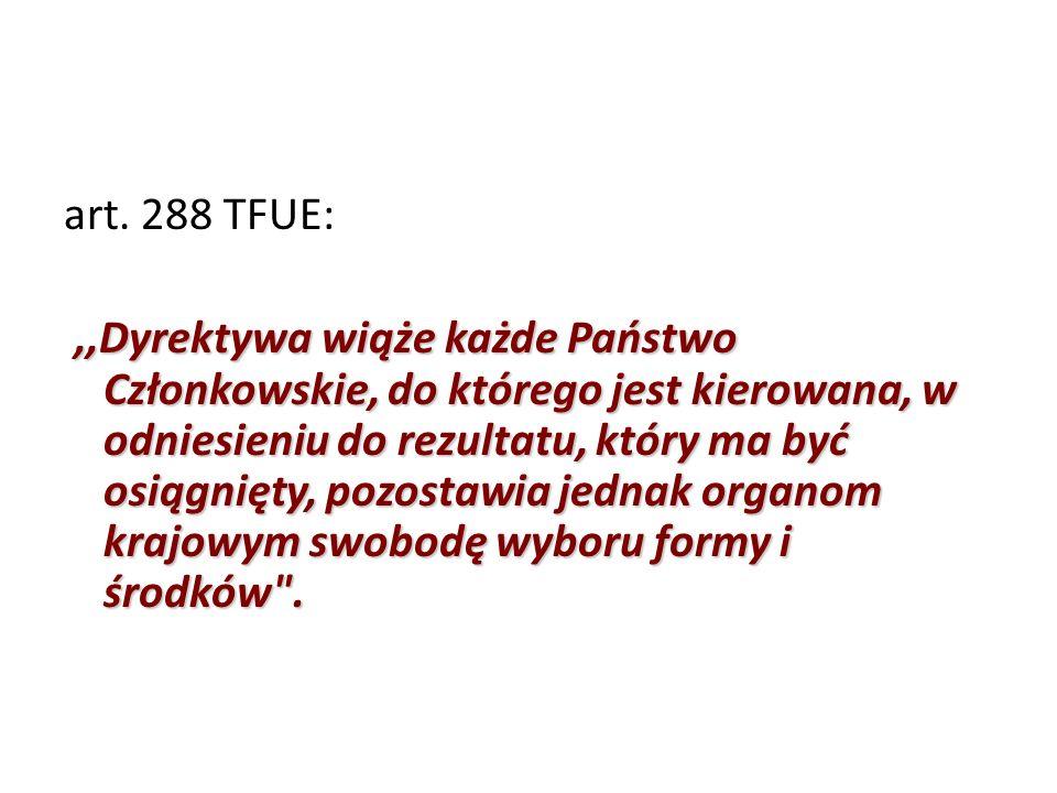 art. 288 TFUE: