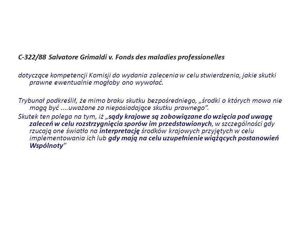 C-322/88 Salvatore Grimaldi v. Fonds des maladies professionelles