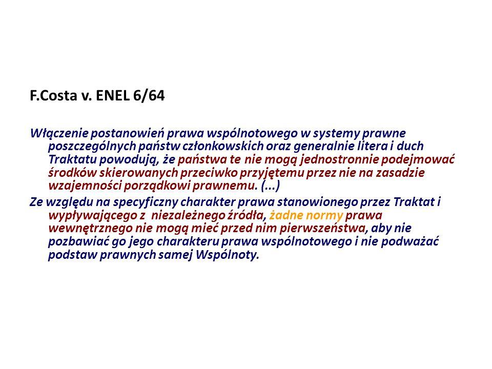 F.Costa v. ENEL 6/64
