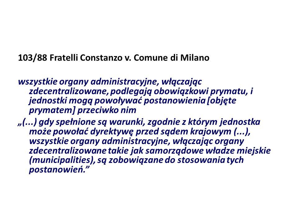 103/88 Fratelli Constanzo v. Comune di Milano