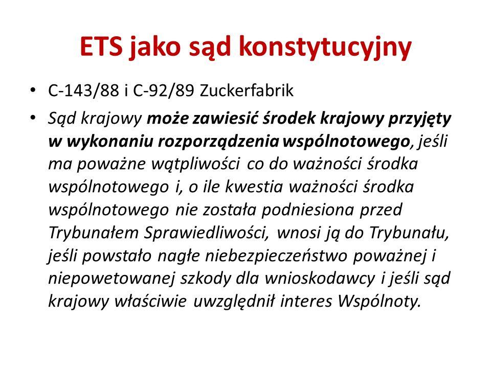 ETS jako sąd konstytucyjny