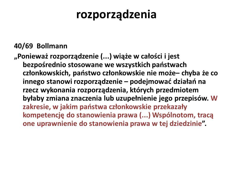 rozporządzenia 40/69 Bollmann