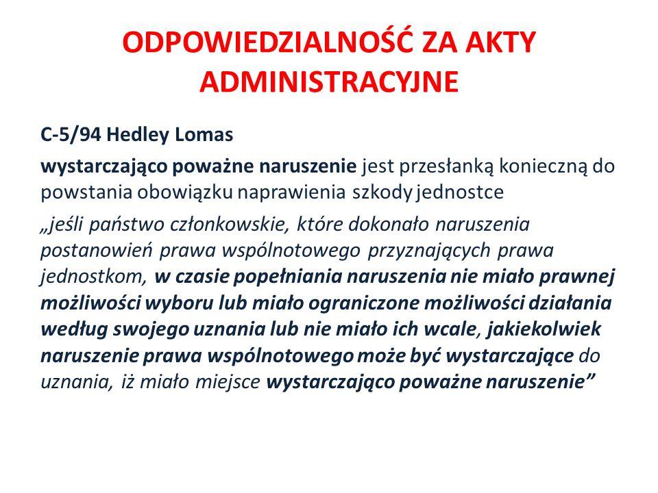 odpowiedzialność za akty administracyjne