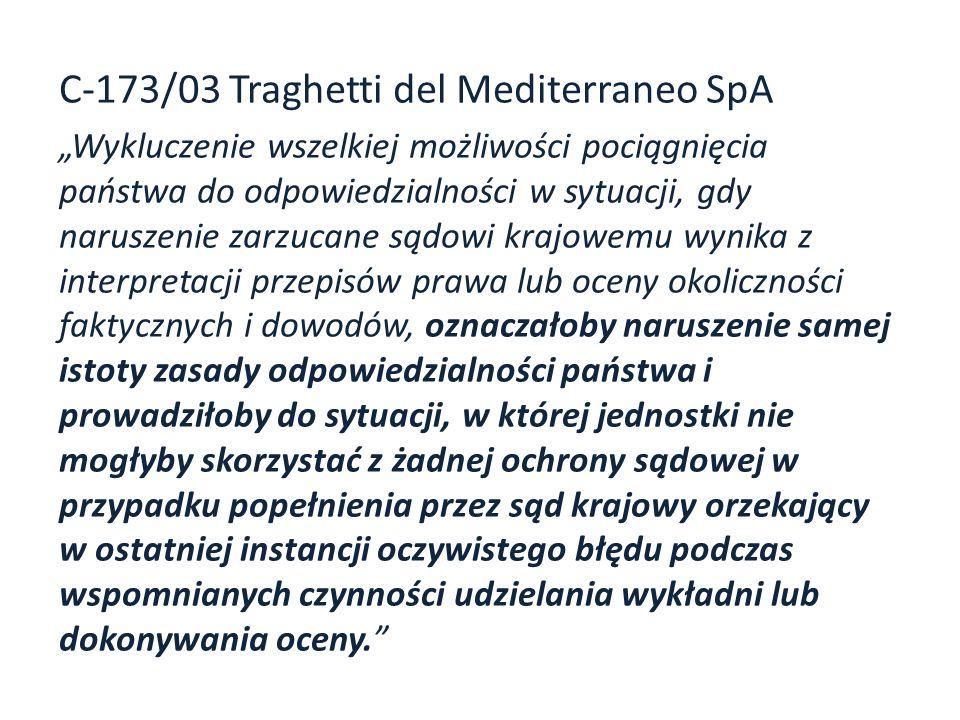 C-173/03 Traghetti del Mediterraneo SpA