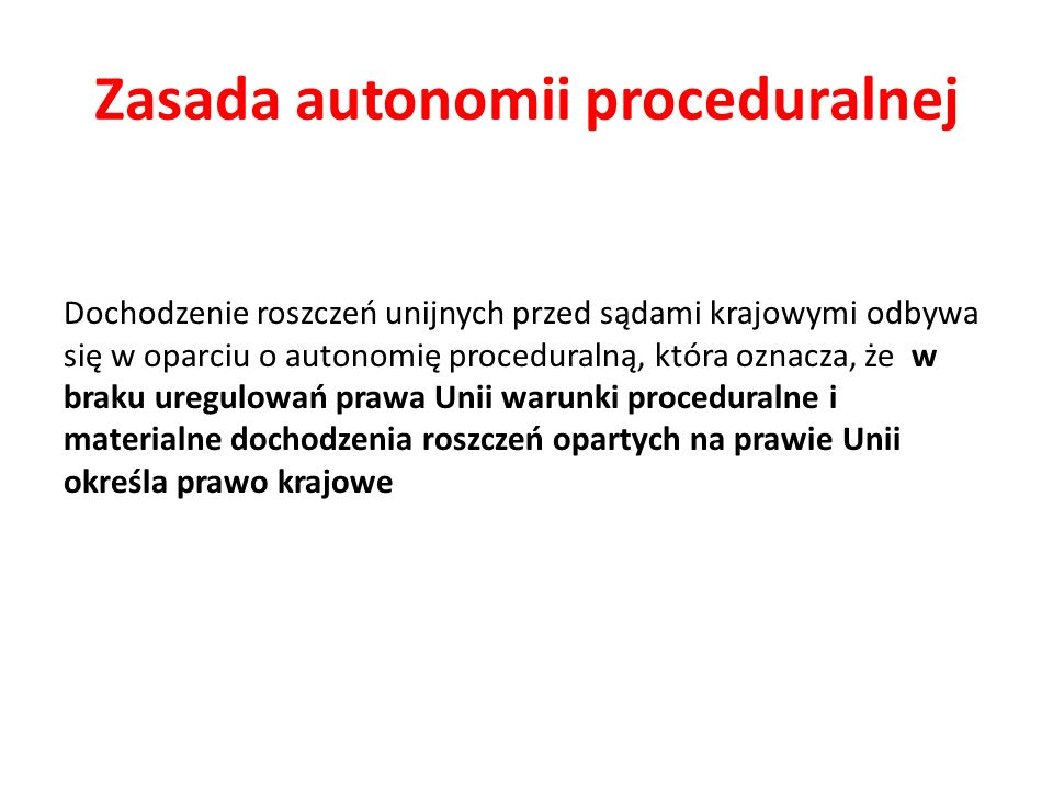 Zasada autonomii proceduralnej