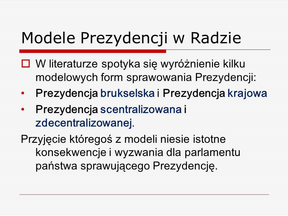 Modele Prezydencji w Radzie