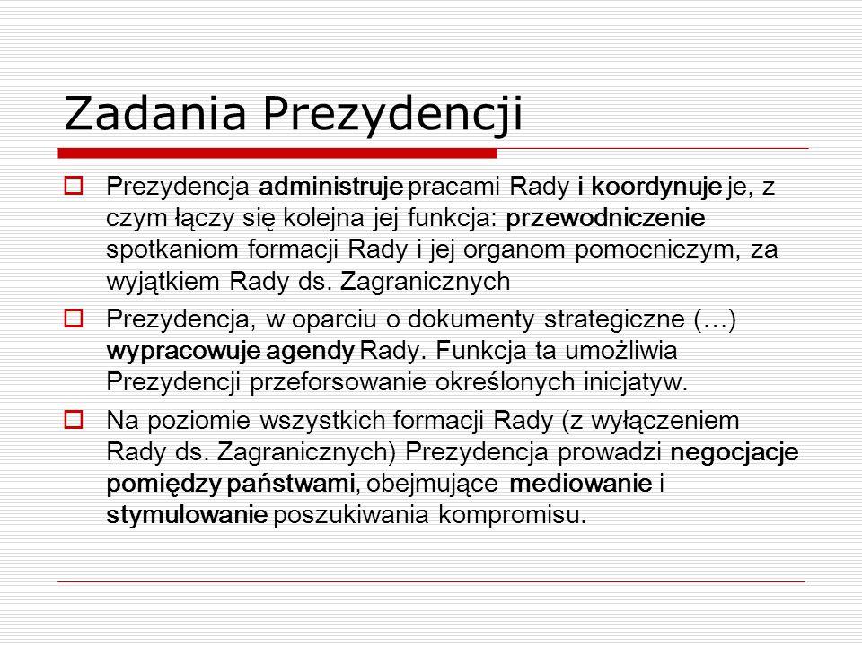 Zadania Prezydencji