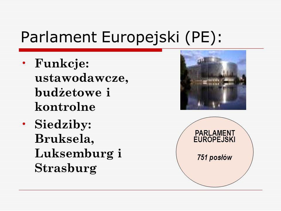 Parlament Europejski (PE):