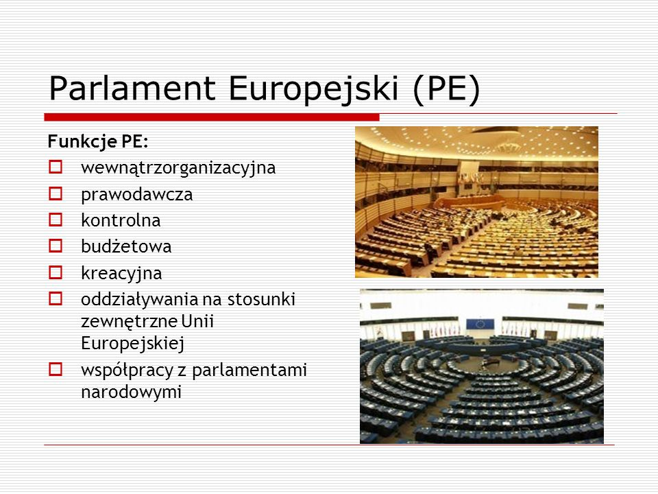Parlament Europejski (PE)