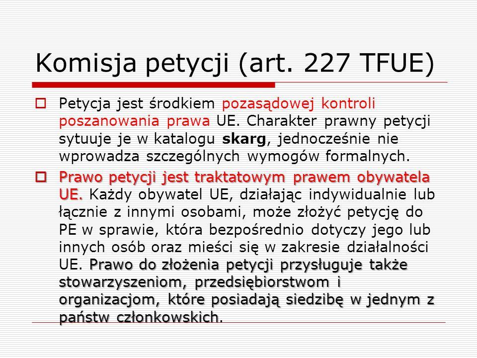 Komisja petycji (art. 227 TFUE)