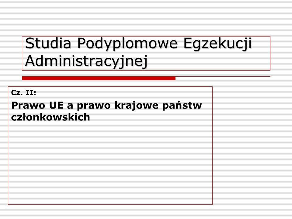 Studia Podyplomowe Egzekucji Administracyjnej