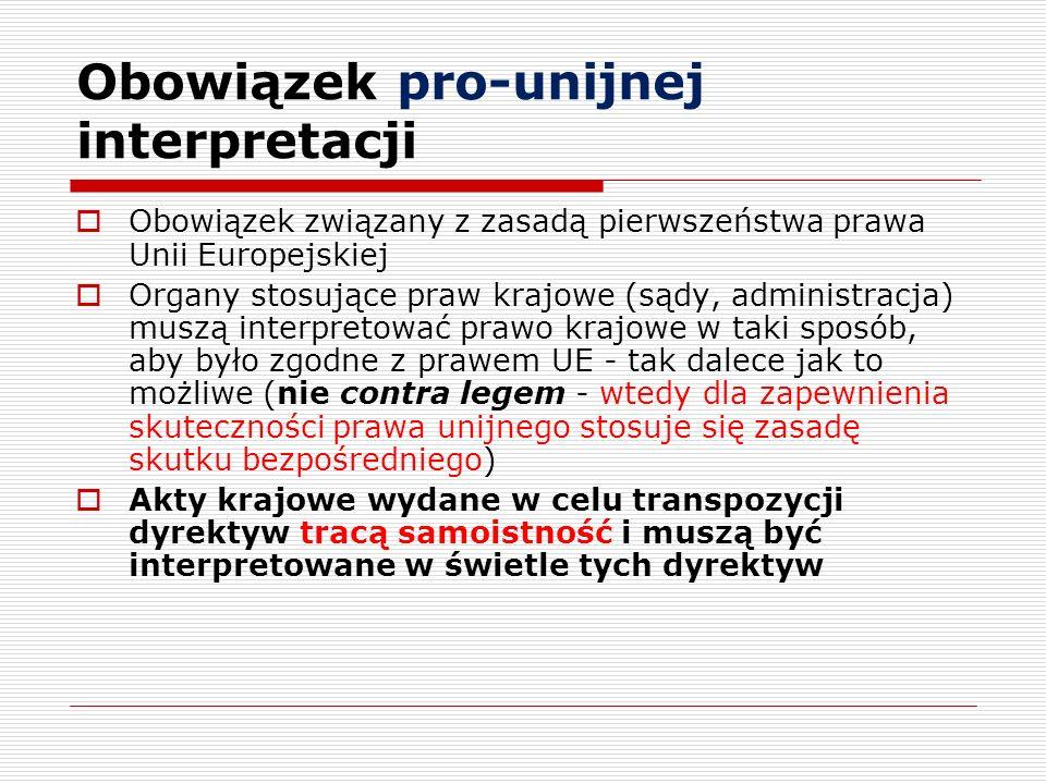 Obowiązek pro-unijnej interpretacji