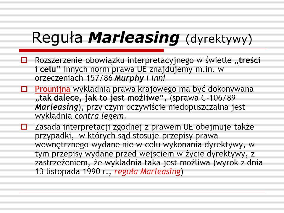 Reguła Marleasing (dyrektywy)