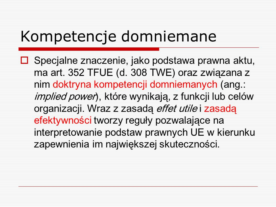 Kompetencje domniemane
