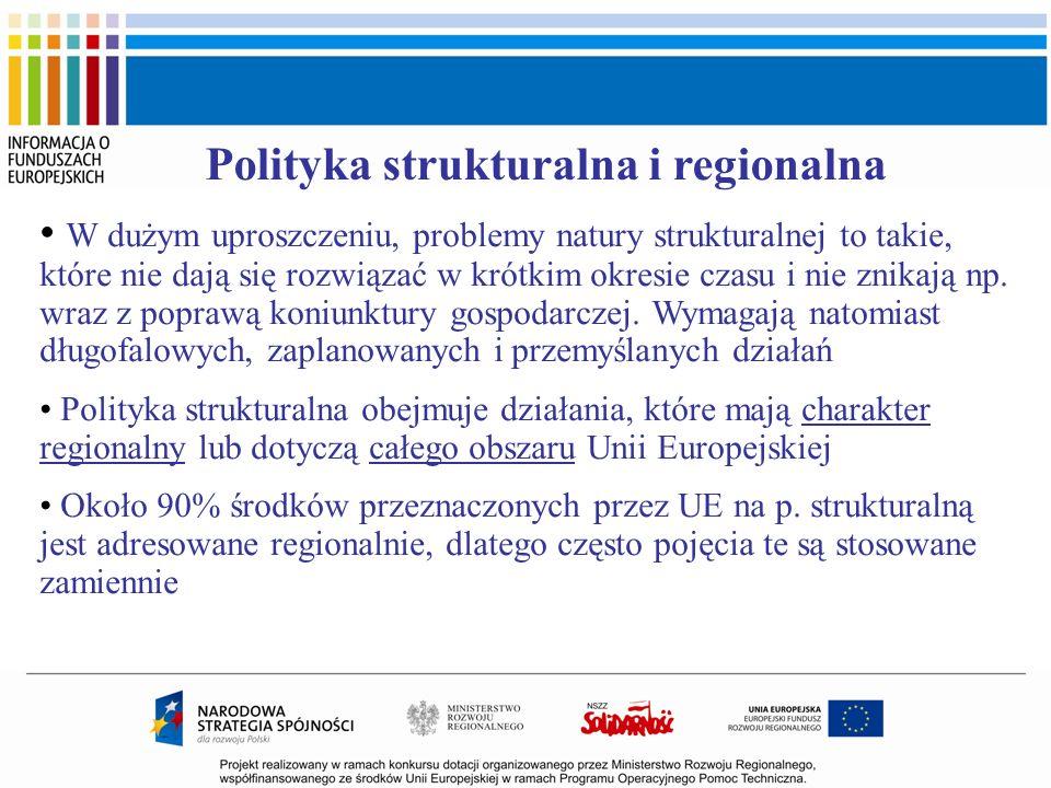 Polityka strukturalna i regionalna